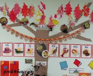 Classroom Fall Tree Awesome owl