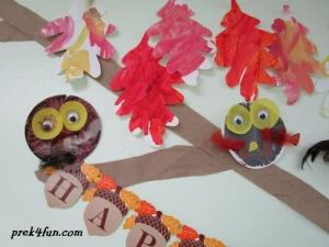 Classroom Fall Tree Awesome owl 1