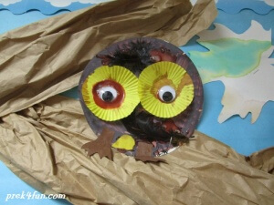 Awesome owl Fall Thankful Bulletin Board