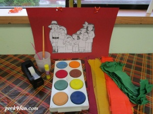 Thanksgiving Windsock preschool craft