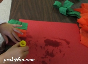 Thanksgiving Windsock preschool craft 4