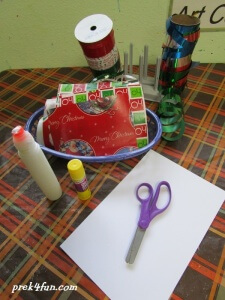 Preschool Gift Wrap Box supplies needed