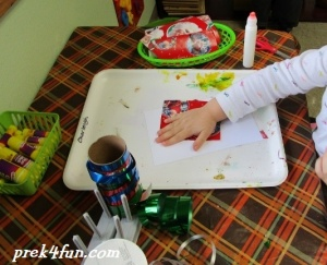 Preschool Gift Wrap Box fun