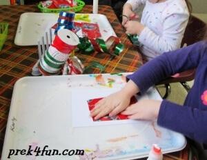 tPreschool Gift Wrap Box make