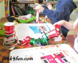 Preschool Gift Wrap Box play fun
