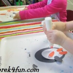 Oval Penguin Preschool Craft fun 1