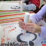 Oval Penguin Preschool Craft fun 3