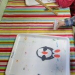 Oval Penguin Preschool Craft fun 4