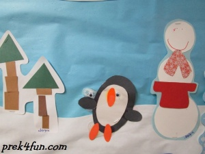 Oval Penguin Preschool Craft fun cute