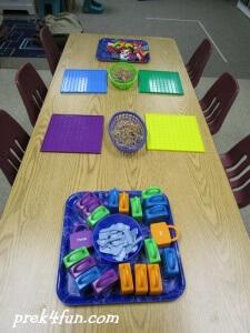 preschool art table. Letter Lacing And Magnetic Shape Blocks L Table Center Activities 2 Preschool Art
