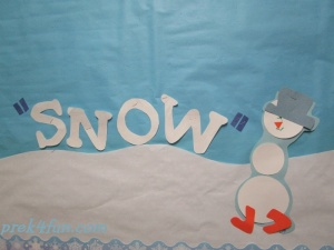 Circle Snow People Preschool Craft