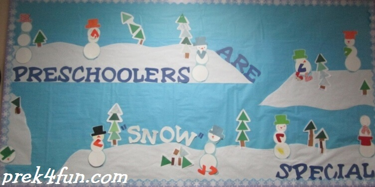 Winter shape Bulletin board
