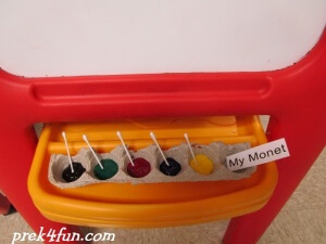 Letter M art Monet Activity set up