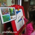 Letter M Monet art 1
