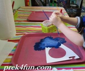 Baking Soda Painted Heart art 1