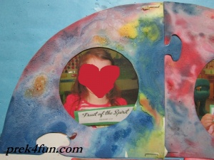 Baking Soda Painted Heart art fun
