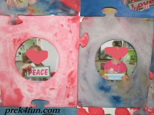 Baking Soda Painted Heart art 4