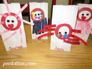 Letter O Art and Activities Octopus completed bags