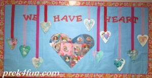 Preschool Valentines Day Bulletin Board