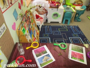 Preschool Classroom Tree spring flower art science center 1
