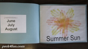Preschool Book of Seasons summer sun 1
