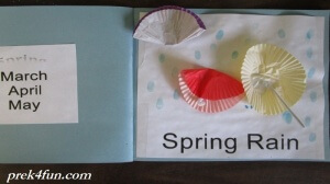 Preschool Book of Seasons spring rain 2