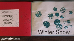 Preschool Book of Seasons winter snow 1