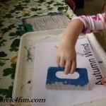 Preschool Book of Seasons autumn wind scrape paint