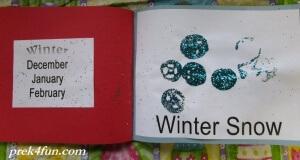Preschool Book of Seasons winter snow 3