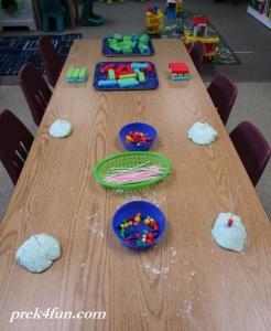 PreschoolLetter T Art and Activities Table centers