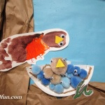Spring Preschool Bulletin Board foot print Robin / nest art