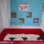Letter X Preschool art and activities Treasure Hunt Sensory