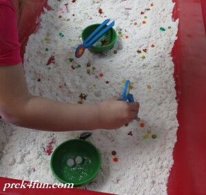 I Spy Treasure Preschool Sensory cloud dough