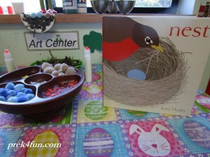 Spring Preschool Bulletin Board Bird Nest