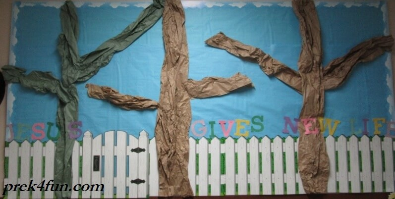 Spring Preschool Bulletin Board start