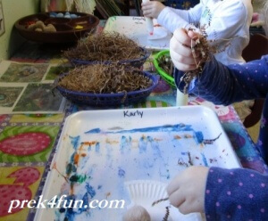 Preschool Letter U art and Activities nest building