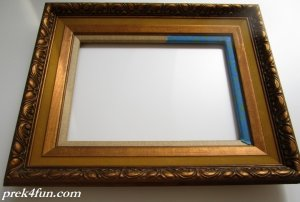 Old Frame for Easel Inspiration prep