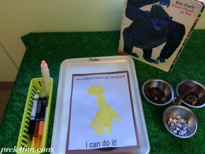 From Head to Toe Hand print Giraffe supplies