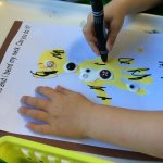From Head to Toe Hand print Giraffe art