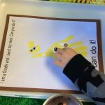 From Head to Toe Hand print Giraffe buttons