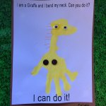 From Head to Toe Hand print Giraffe 2