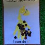 From Head to Toe Hand print Giraffe 3