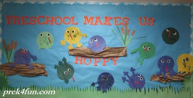 Preschool makes us hoppy bulletin board 1