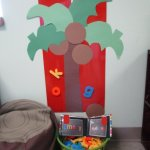 Magnetic Coconut Tree with Class Name Book