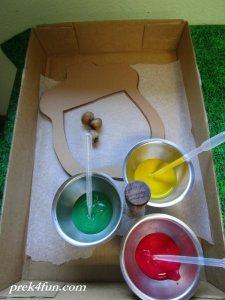 Acorn Preschool Window Art