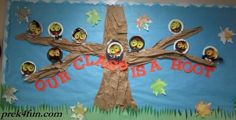 Our Class is a Hoot Fall Bulletin Board