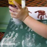 OH Deer Bulletin Board handprint art