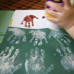 OH Deer Bulletin Board handprint art 2