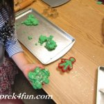 Peppermint Play Dough glitter