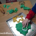 Peppermint Play Dough Fun play